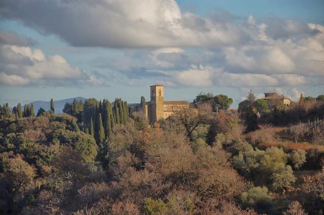 Chiesa dell'Osservanza seen from Montalcino