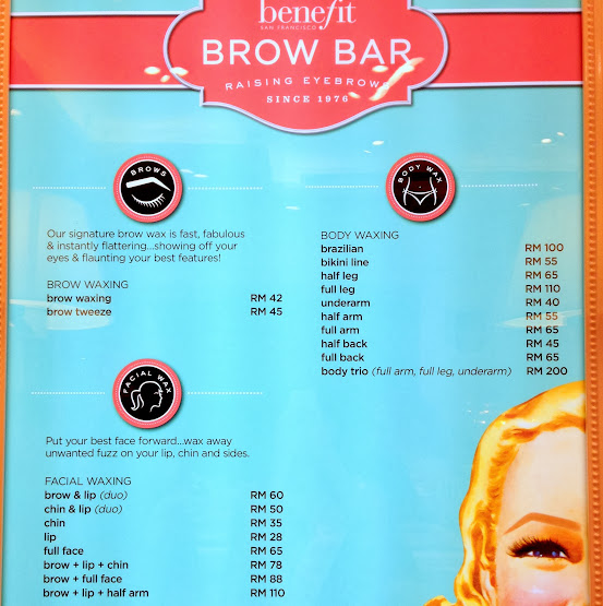 Benefit Cosmetics Brow Bar Waxing