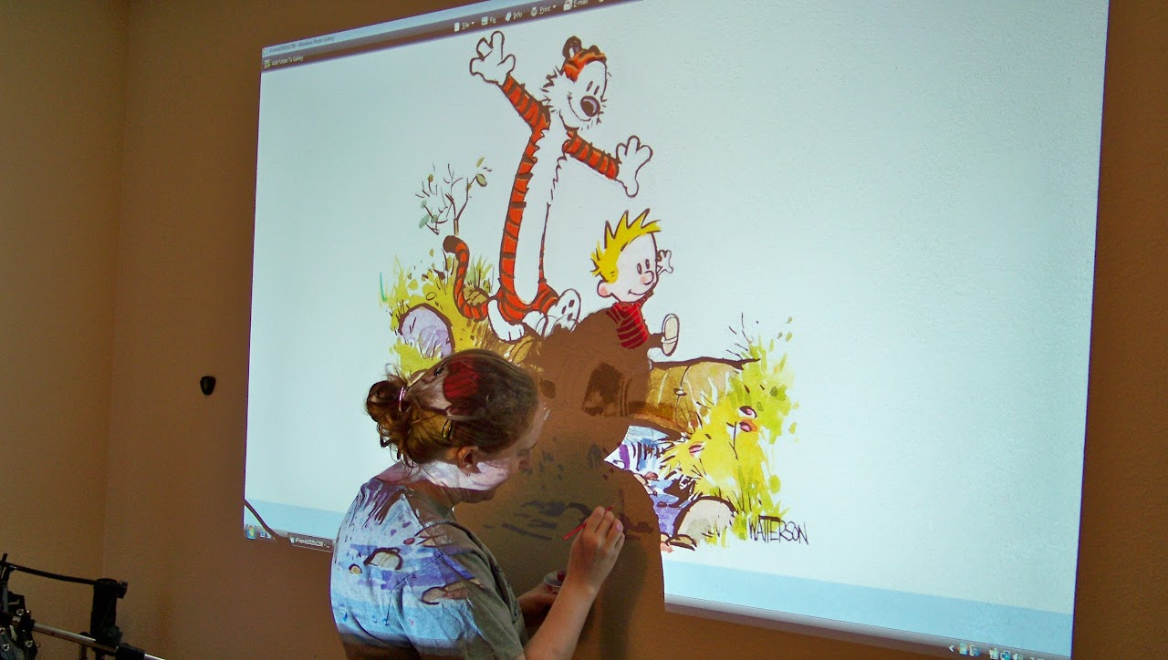 Creating a mural for the nursery Calvin Hobbes EDIT Done OP