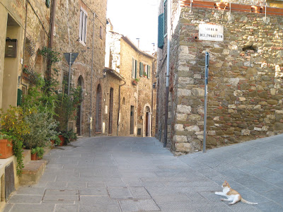 Campagnatico's medieval town center in Southern Tuscany