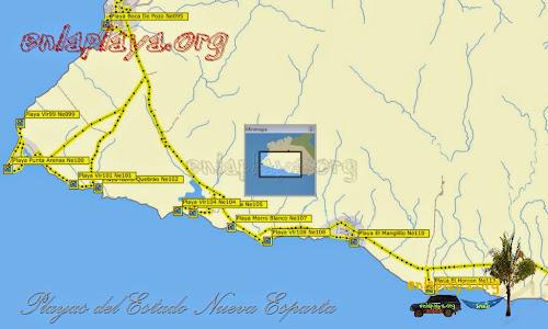 Mapa de Playas del Sector Punta Arenas