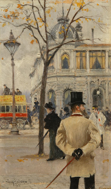 Paul Gustave Fischer - In front of 'National'