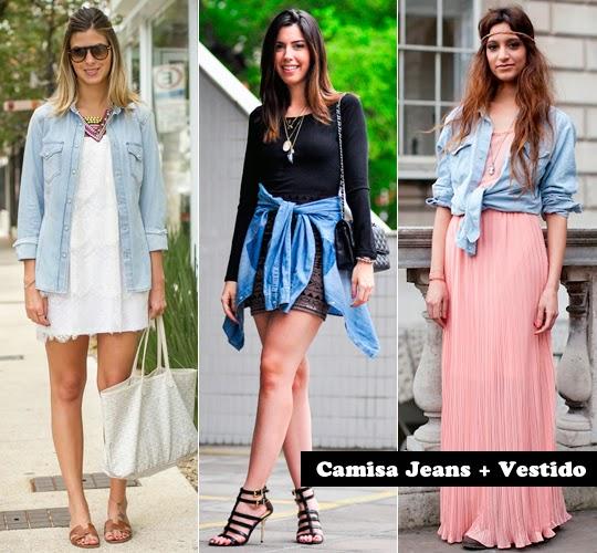 tendência camisa jeans