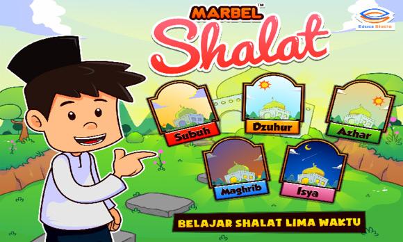 Aplikasi android - Game belajar sholat untuk anak dari Marble