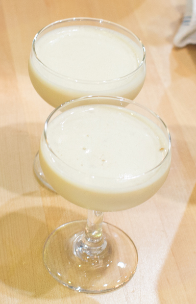 photo of two whiskey flip cocktails