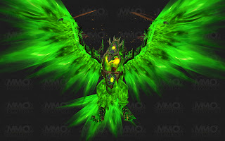 Beryl Fire Hawk World of Warcraft WoW Mount Possibly from Zul Gurub or Zul Aman Green Blue