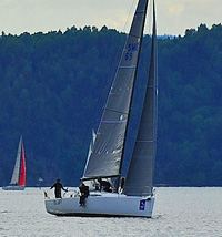 J/111 sailing Norway Foerder Race