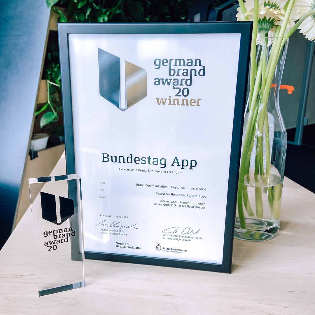 Ackee Bundestag App German Brand Award 2020