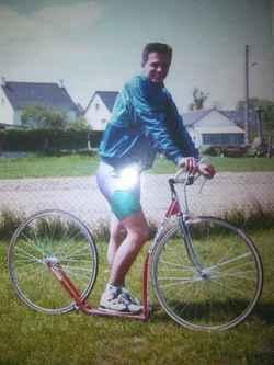 Philippe Saumont sur la Trocyclette