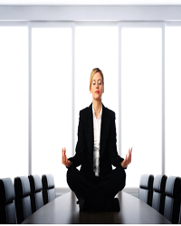 Jeune Femme Meditation Young Woman Meditating