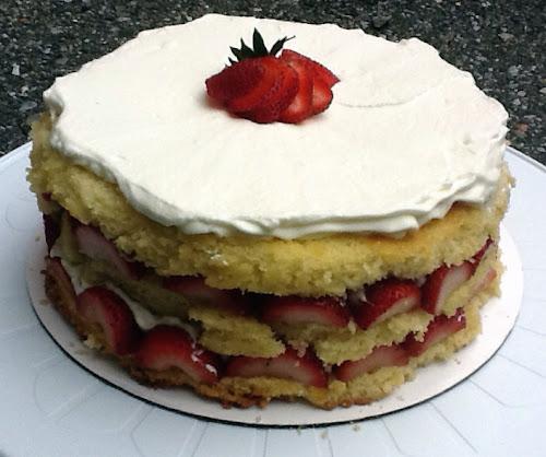 Strawberry Cassata Cream Cake