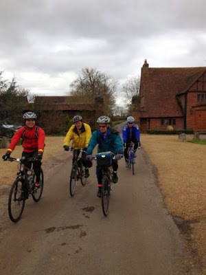 Cycling through house grounds