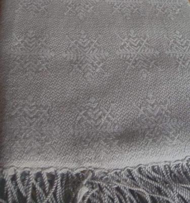 Pashmina shawl - 70% pashmina/30% silk shawl with Jacquard weave