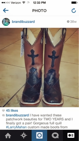 Ostrich boots from Larry Mahan