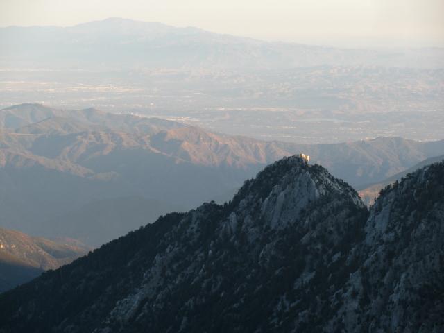last of the sunlight on the southward ridge