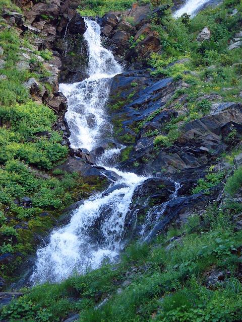 Как фотографировать водопады - Кавказ. Фрагмент водопада Братья.