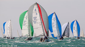 J70s sailing at Quantum Key West Race Week- Key West, Florida