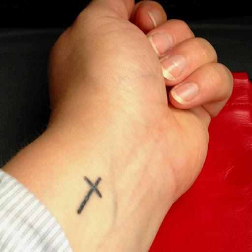 cross tattoo design for women