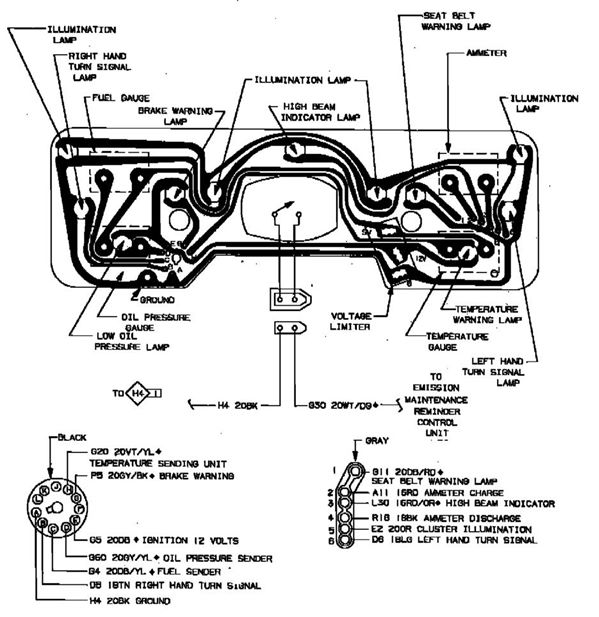 87%252520dodge%252520ram%252520gauge%252520wiring 87 dash wiring dodgetalk dodge car forums, dodge truck forums 1987 dodge d150 wiring diagram at crackthecode.co