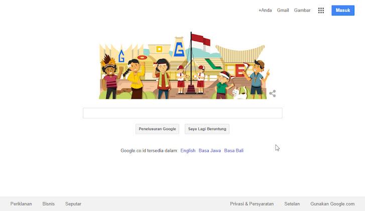 Google Indonesia dan 17 Agustus 2014: halaman utama