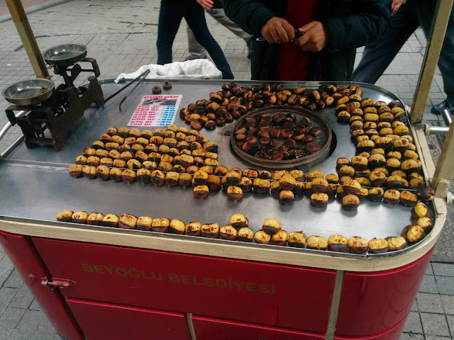 Roasted chestnuts on the streets of Istanbul