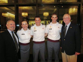 Left to right are Dave Hurley, Hope Landsem, Class Secretary and First Regt Adjutant; Kyle Warren, VP; Will Goodwin, President and First Regt Commander; and Bob Frank