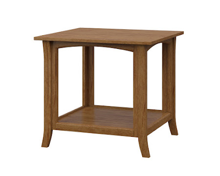 Dreamtime End Table in Como Maple