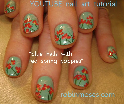 "Prettyfulz Fall Nail Art Design 2011: Robin Moses Nail Art: ""irish Cross Nail Art"" ""poppy Field"