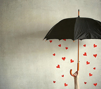 umbrella hearts
