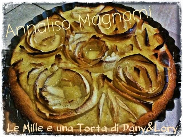 crostata di mele con crema alla vaniglia e cannella