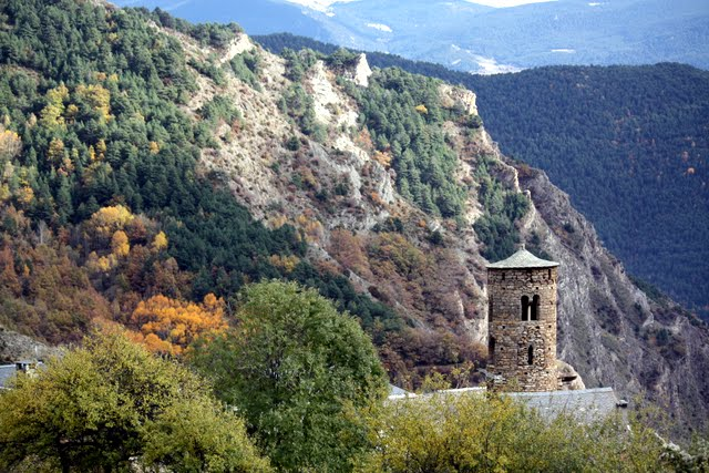 Village rotunda in Andorra