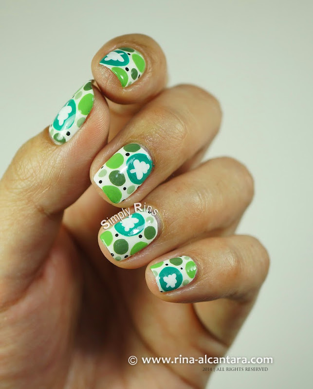 Spot the Christmas Tree Nail Art by Simply Rins