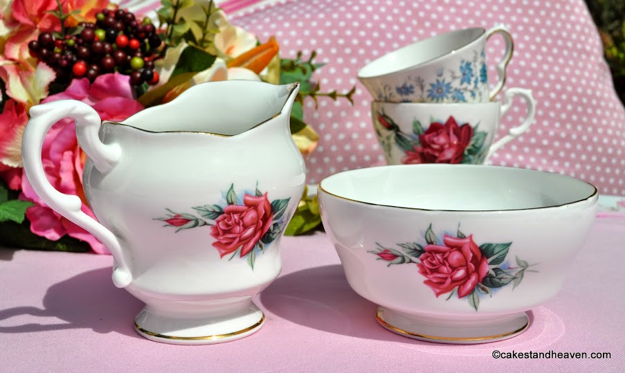 Royal Standard Christian Dior vintage jug and sugar bowl