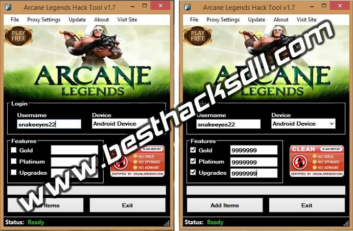 Arcane Legends Hack Tool v1.7 (Updated 2014)