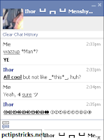 how to make text bold on facebook chat