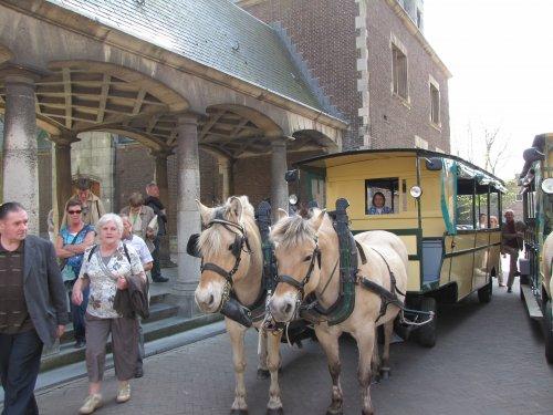 Daar bezoeken we de stad met de paardentram.