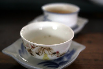 Tea cups at Teanamu Teahouse in Notting Hill