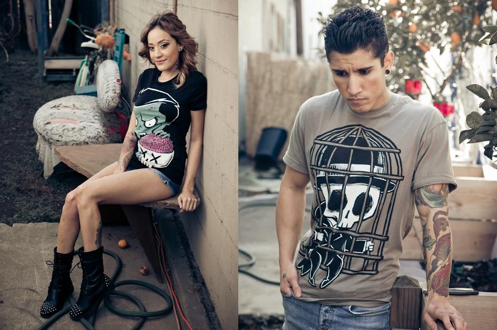 pamela millo, david punkrock, birdcage shirt, original art shirt, skull tshirt, original skull art, tattoo fashion, nerdy tattoo style, geek chic, akumuink