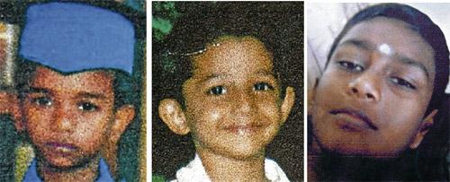 tiga kanak-kanak hilang