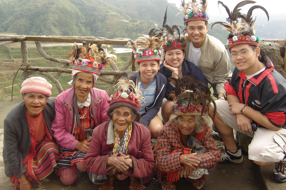PauTravels in picture taken with Ifugao elders