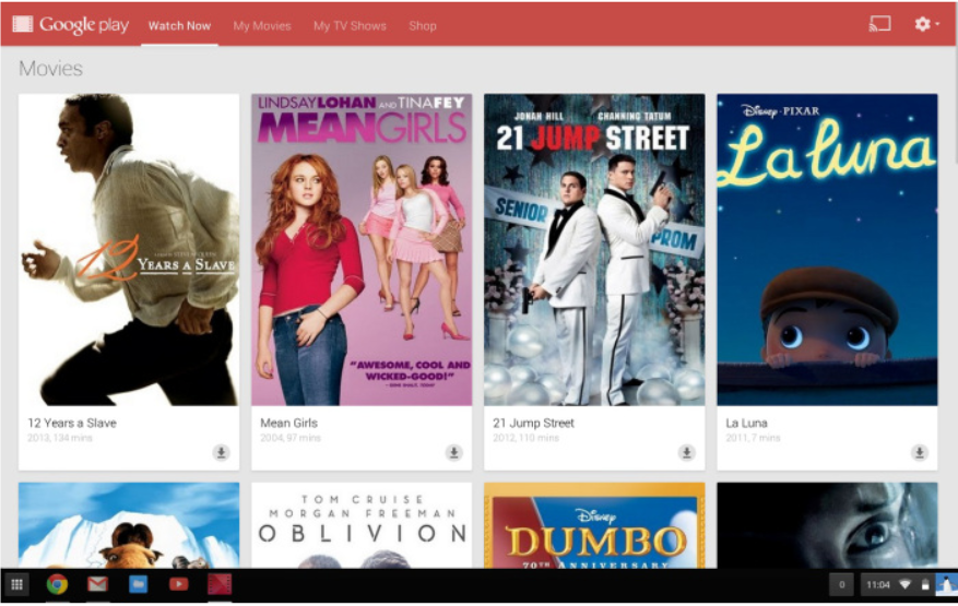 Play Movies @ Chrome Web Store