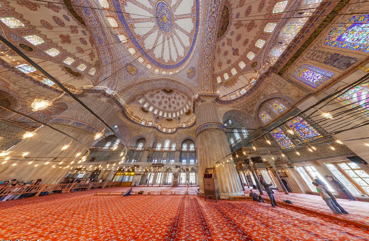 Три мечети Стамбула, Турция • 360° Аэрофотопанорама, купить тур в Турцию