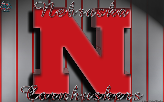 Nebraska Cornhuskers Pinstripes wallpaper