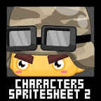 Soldier Characters Spritesheet