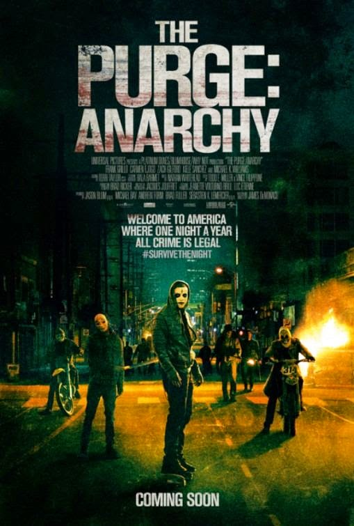Poster Of English Movie The Purge: Anarchy (2014) Free Download Full New Hollywood Movie Watch Online At Alldownloads4u.Com
