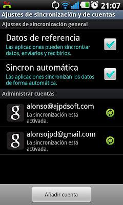 Cómo sincronizar móvil Samsung Galaxy S II con cuenta de Google GMail