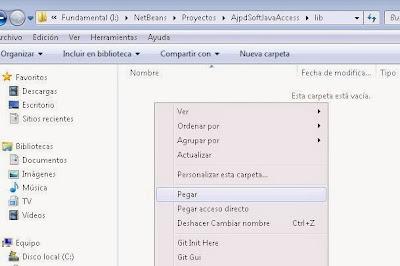 Añadir librerías .jar necesarias para el acceso a base de datos Microsoft Access de forma nativa desde aplicación Java mediante Jackcess