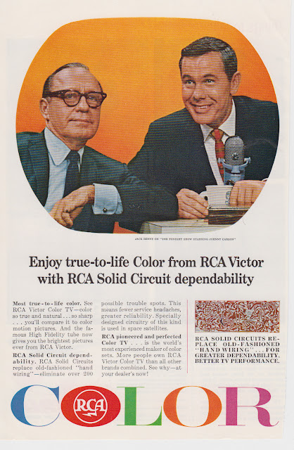 1965 RCA Color Televisions - Jack Benny, Johnny Carson