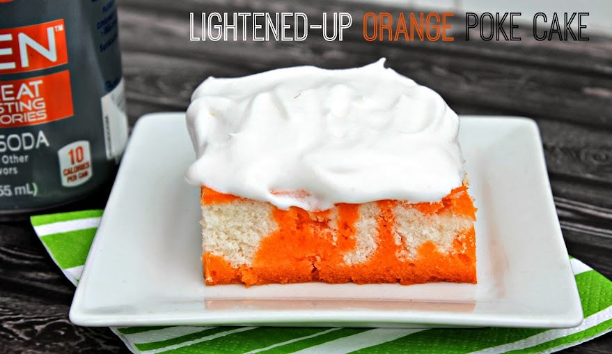 Lightened-Up Orange Poke Cake Recipe with Sunkist TEN