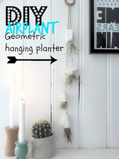 Geometric airplant hanging planters
